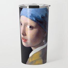 Girl with a Pearl Earring by Johannes Vermeer (c. 1665) Travel Mug