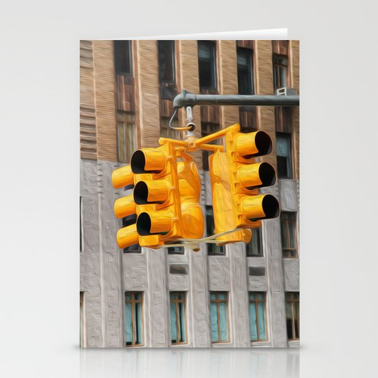 Traffic lights Stationery Cards