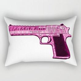 Pink Desert Eagle Modern Art Rectangular Pillow