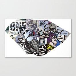 Paris Graffiti: 7th Arrondissement Canvas Print