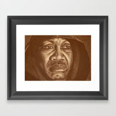 round 2...joe frazier Framed Art Print