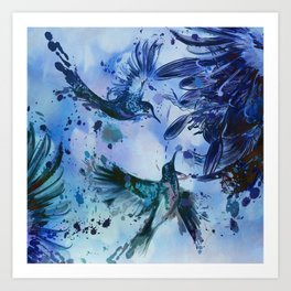 Birds In Flight Abstract Art Print