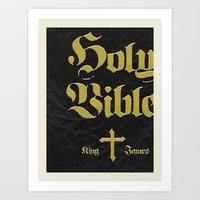 bible Art Prints featuring Holy Bible by justin skeesuck