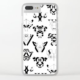 0-9 - Black & White Clear iPhone Case