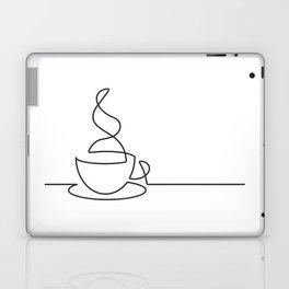 Single Line Coffee Cup Illustration Laptop & iPad Skin