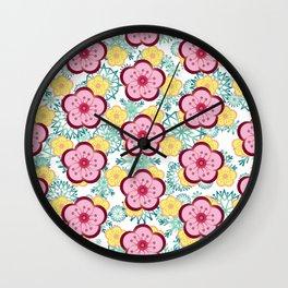 Sweet Plum Flower with Jade Snow Flake Wall Clock
