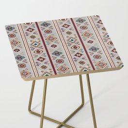 Caucasian Rugs(Stripe) - White Side Table