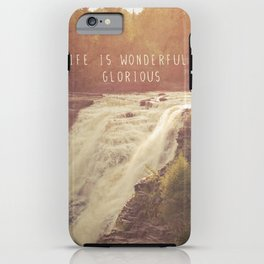 wonderful waterfalls iPhone Case