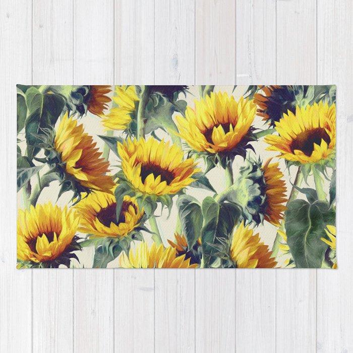 Sunflowers Forever Rug