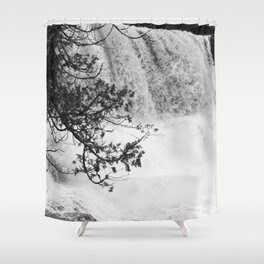 Gooseberry in Black and White Shower Curtain