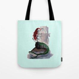 mermaid skull Tote Bag