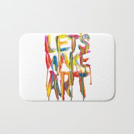 LET'S MAKE ART Bath Mat