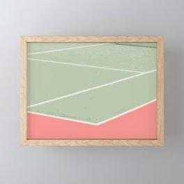 Tennis game Framed Mini Art Print