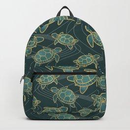 Japanese Pond Turtle / Teal Backpack