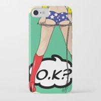dc comics iPhone & iPod Cases featuring COMICS by mark ashkenazi