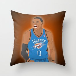 Oklahoma Thunder - Russell Westbrook Throw Pillow