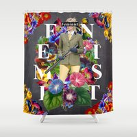 feminist Shower Curtains featuring Feminist by Samwise