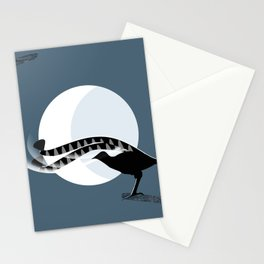 Lyrebird in the Moonlight Stationery Cards