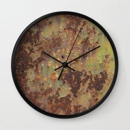 Old rusty metal Wall Clock