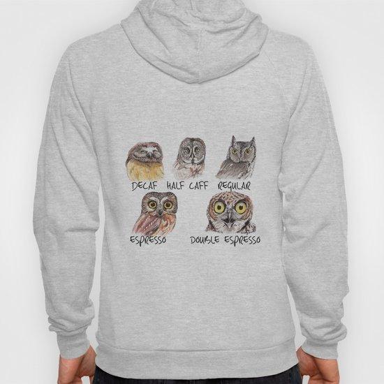 Owl Caffeine Meter -  funny owl coffee by hollysimental