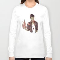 zayn Long Sleeve T-shirts featuring Zayn Firebender by thestoryischanging