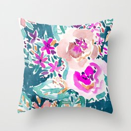 FULL ON FLORAL Throw Pillow