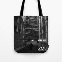 uncharted Tote Bags featuring Uncharted II by ZML Zealous Modern Living