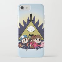 gravity falls iPhone & iPod Cases featuring Gravity Falls by Matt Tichenor