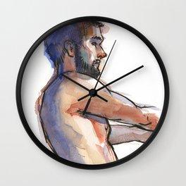 NATE, Semi-Nude Male by Frank-Joseph Wall Clock