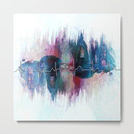 Heartbeat Drama Metal Print