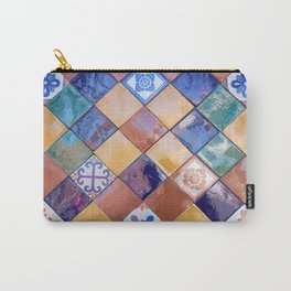 multicolor ceramic tiles Carry-All Pouch