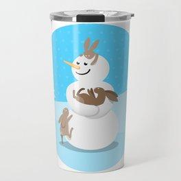 Snowman's Best Friends Travel Mug