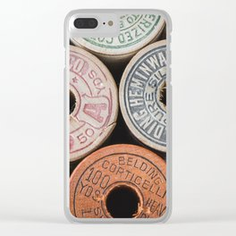 Vintage Fashion Threads in Color Still Life Clear iPhone Case