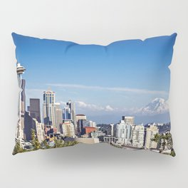 Seattle Overlook with Mt Rainier Pillow Sham