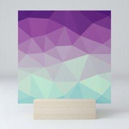 violet and blue polygon Mini Art Print