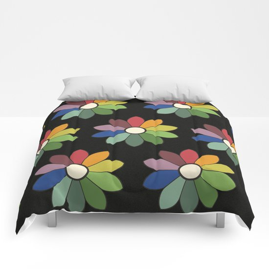 Flower pattern based on James Ward's Chromatic Circle (vintage wash) by coloria