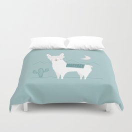 Alpaca In The Mountains Duvet Cover