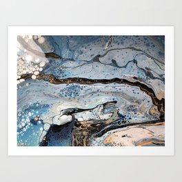 Ice Flow Art Print