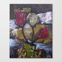 Tulips in Vase Canvas Print