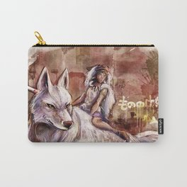 Miyazaki's Mononoke Hime - San and the Wolf TraDigital Painting Carry-All Pouch