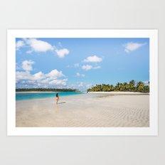 Enjoying the Cook Islands Art Print