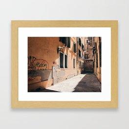 HIDDEN // Venice, Italy Framed Art Print