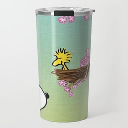 Woodstock in the Cherry Blossoms Posters Travel Mug