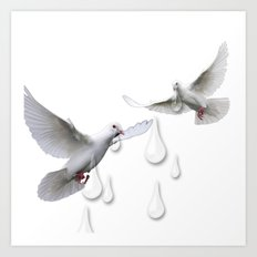 Can you hear the doves crying Art Print