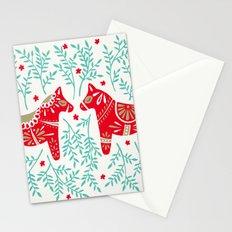 Swedish Dala Horses – Red & Mint Palette Stationery Cards