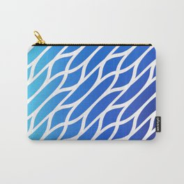 Blue Diagonal Pattern Carry-All Pouch