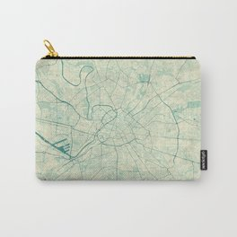 Manchester Map Blue Vintage Carry-All Pouch