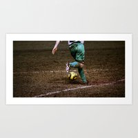 football Art Prints featuring Football by Goncalo