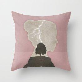 Charlotte Brontë Jane Eyre - Minimalist literary design Throw Pillow