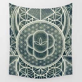 Ultra Sacred Geometry Dark Wall Tapestry